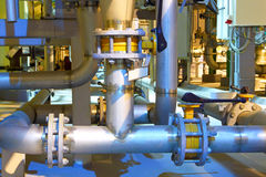 Gas pipeline.Chemical factory. Stock Image