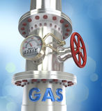 Gas pipeline - concept. 3D render Stock Photography