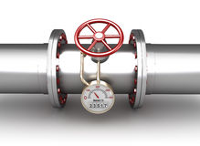 Gas pipeline - concept. On white Stock Photos
