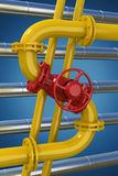 Gas pipeline Stock Photography