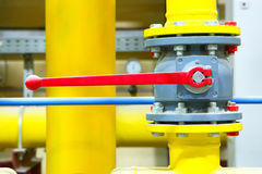 Gas pipeline of a high pressure Royalty Free Stock Images