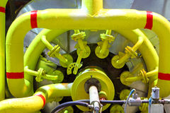 Gas pipeline.Industrial business. Royalty Free Stock Photography