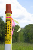 Gas Pipeline Marker Royalty Free Stock Image