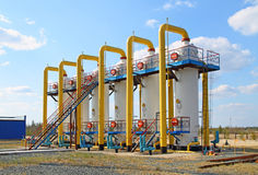 Gas pipeline system Royalty Free Stock Photos