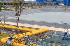 Gas pipeline to power plant Stock Photography