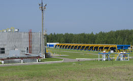 Gas pipeline. Transportation of gas to other countries royalty free stock images