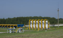 Gas pipeline. Transportation of gas to other countries royalty free stock image