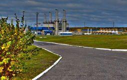 Gas pipeline. Transportation of gas to other countries royalty free stock photography