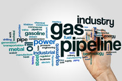 Gas pipeline word cloud Stock Images