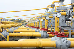 Gas pipes Stock Images