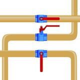 Gas pipes Royalty Free Stock Photography
