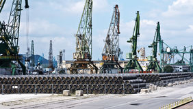 Gas pipesat Port of Varna Royalty Free Stock Photo