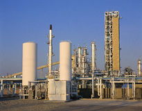 Gas plant Royalty Free Stock Images