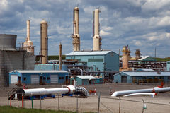 Gas Plant. Facility near Cochrane, Alberta Royalty Free Stock Image