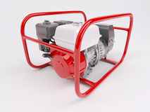 Gas Powered Generator. 3D render of a Gas powered generator Stock Photo
