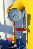 Gas pressure gage Stock Image