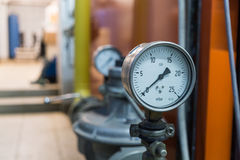 Gas pressure gauge Royalty Free Stock Photos