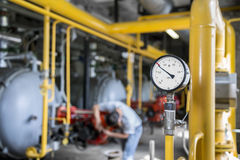 Gas pressure measuring device  the gas gauge Royalty Free Stock Photos