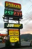Gas Price Display Sign Royalty Free Stock Photos