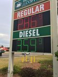 Gas price Royalty Free Stock Image