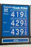 Gas price kepps rasing Stock Image