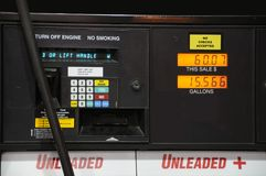 Gas Price On The Pump Royalty Free Stock Image
