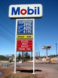 Gas price start to fall Royalty Free Stock Images