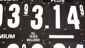 Gas prices. Black and white Stock Photography