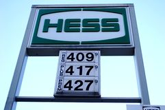 Gas Prices. Gas for sale in New York City at over four dollars a gallon in March 2012 stock photo