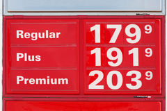 Gas prices. Very low gasoline prices in Texas, November 2008 Royalty Free Stock Photo