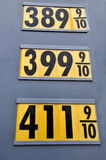 Gas Prices. Sky high gas prices in the summer of 2008 Royalty Free Stock Photos
