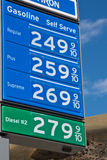 Gas Prices in California Stock Photo