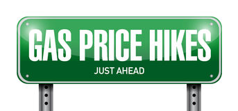 Gas prices hikes street sign illustration design Stock Photography