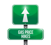 Gas prices hikes street sign illustration Stock Photo
