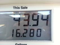 Gas prices Royalty Free Stock Images