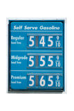 Gas prices on the rise Stock Photography