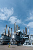 Gas processing factory Royalty Free Stock Photo