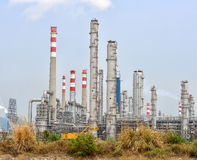 Gas processing factory. landscape with gas industry Royalty Free Stock Images