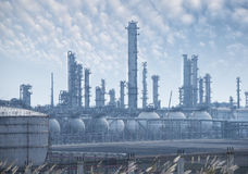 Gas processing factory Royalty Free Stock Photography