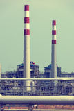 Gas processing factory. landscape Royalty Free Stock Photos