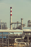 Gas processing factory. landscape Royalty Free Stock Photography