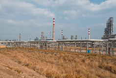 Gas processing factory. landscape Stock Photography