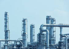 Gas processing factory. landscape Royalty Free Stock Image