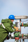 Gas Production Operator Stock Image