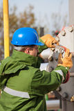 Gas Production Operator Stock Photos