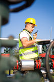 Gas Production Operator Royalty Free Stock Images