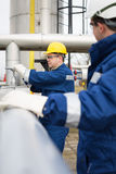 Gas Production Operator Royalty Free Stock Photos