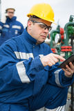 Gas Production Operator Royalty Free Stock Photo