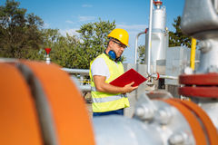 Gas Production Operator Stock Photography