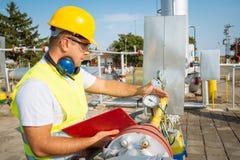 Gas Production Operator Stock Photos
